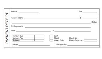 Sample Cash Payment Receipts