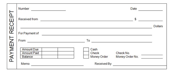 Cash Paid Receipt. Cash Receipts Journal Template Free Printable
