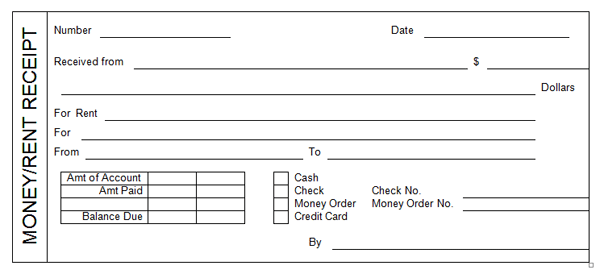 Captivating Receipt Template  Check Receipt Template
