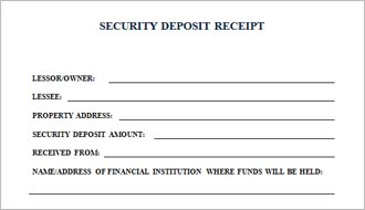 Security deposit receipt form thecheapjerseys Image collections