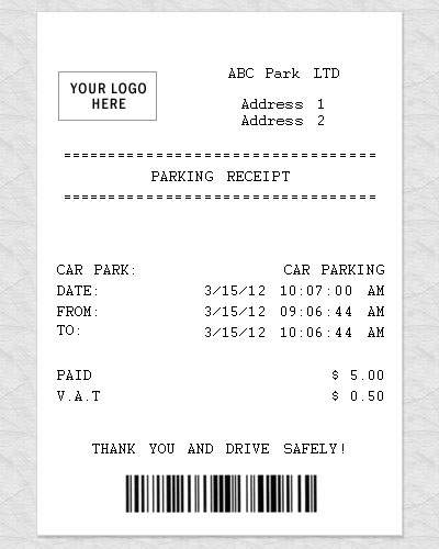 parking receipt template thevillas co