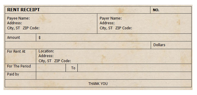 Receipt Template  Free Rental Receipts
