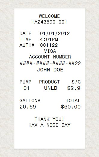 Gas Receipts Acurnamedia