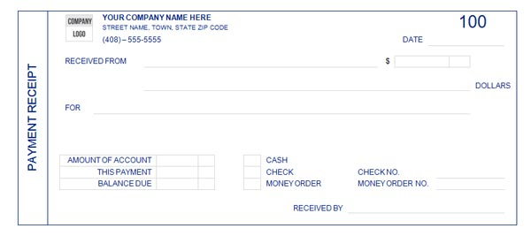 Receipt Template  Money Receipt Template