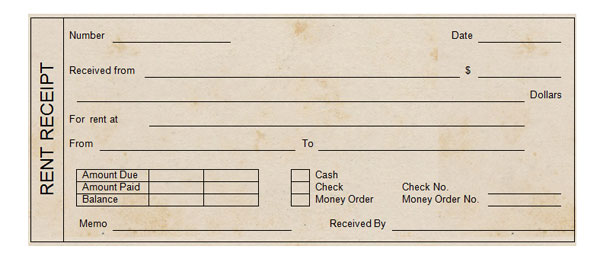Receipt Template  Free Rent Receipts