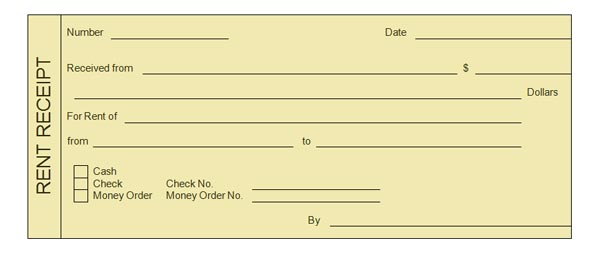 Receipt Of Rent Payment – House Rent Slips