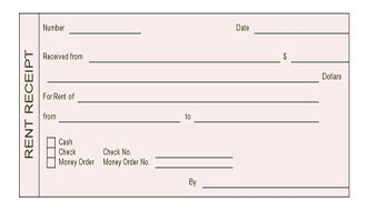 Receipt Template  House Rent Receipt Format