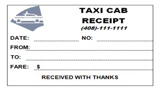 printable taxi receipt template .